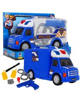 Policajné auto s doplnkami